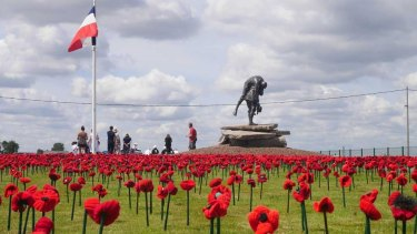 Part of the 5000 poppies project at the Australian Memorial Park, Fromelles.