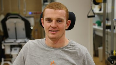 Rehab: Alex McKinnon at Royal North Shore Hospital.