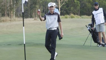 Ace: Thomas Heaton  after hitting a hole in one at second hole in first round of NSW Open.