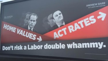 Liberal Party advertisement during the federal election, targeting ACT Chief Minister Andrew Barr