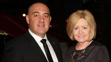 James Limnios and Lisa Scaffidi in happier times.