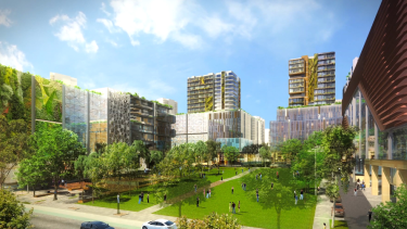 Towers planned for Sydney Olympic Park.