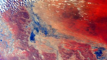 Inland Australia as seen from the International Space Station.