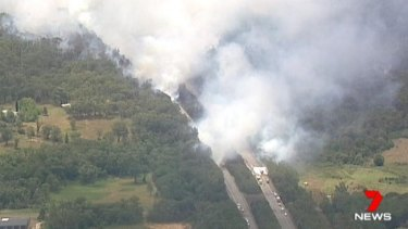The bushfire burned 15 hectares of land but posed no threat to homes.