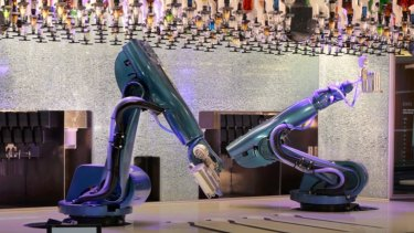 The Ovation of the Seas has 'Bionic Bar' where robots mix the drinks.