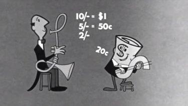 Dollar Bill - The Decimal Currency Jingle in 1966.