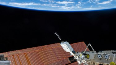 Planet Labs satellites are launched from the International Space Station last year.