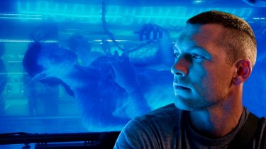 Environmental themes: Sam Worthington in Avatar.