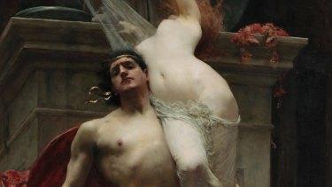 <i>Ajax and Cassandra</i> (detail),1886, by Solomon J. Solomon. Oil on canvas.