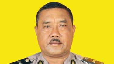 Slain Bali police officer Wayan Sudarsa.