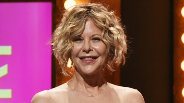 Meg Ryan on stage at the 2016 Tony Awards.