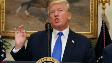US President Donald Trump speaks in favour of an Australian-style immigration system.