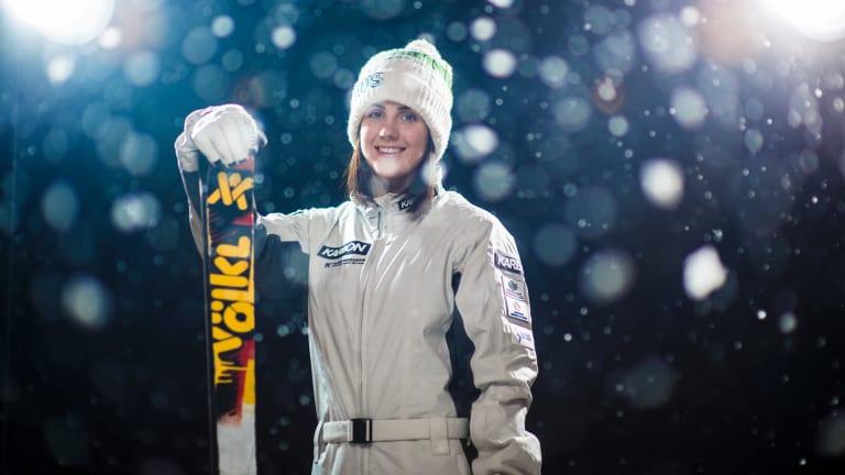 Canberra-born aerial skier Laura Peel.