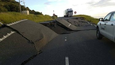 Damage on New Zealand's south island following the earthquake.
