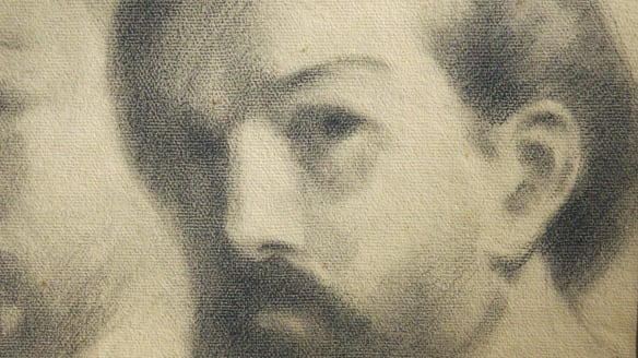 Portrait of Claude Debussy (1910) by Kahlil Gibran.