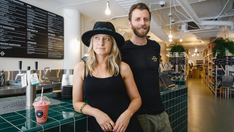 Bitten Goodfoods co-owners Alex Howes and John Bruyn are conscious about reducing waste in their business.