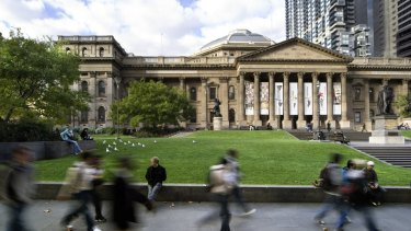 The State Library of Victoria will be the site of the first test of the new emergency public address system.
