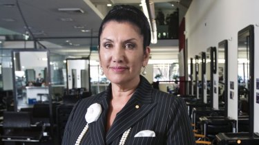 Beauty college owner Maureen Houssein-Mustafa.