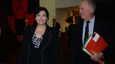 Day of drama: Jodi McKay leaves the ICAC.
