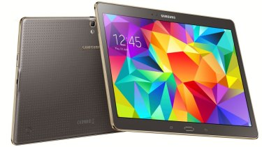 The 10.5 inch Galaxy Tab S in bronze.