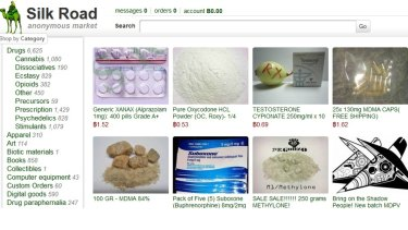 This frame grab from the Silk Road website shows thumbnails for products allegedly available through the site.