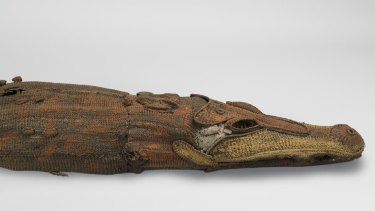 Life size cane carving crocodile from War Museum Collection.