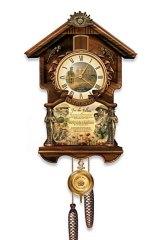 """The """"Lest We Forget"""" tribute clock: The cuckoo clock plays a faithful rendition of <i>The Last Post</i>."""