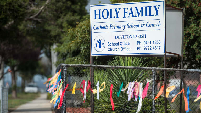 Peter Searson was parish priest at Holy Family church in Doveton.