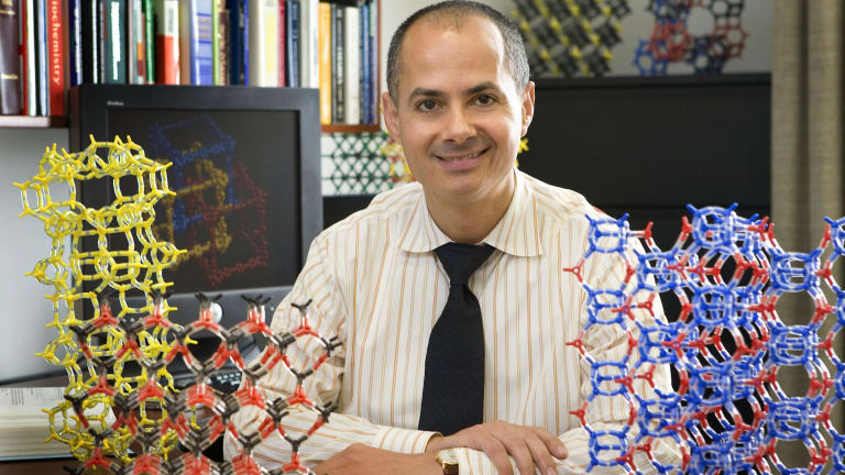 Chemistry professor Omar Yaghi envisions a future where the water is produced off-grid for individual homes and possibly farms using the device.