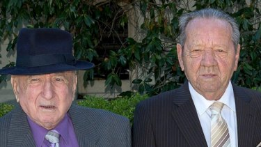 Frederic (Frici Low), aged 83, and Steven (Istvan Koenig), aged 86,in 2014