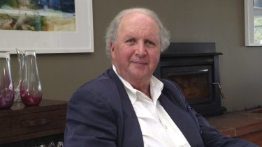 Alexander McCall Smith, author, at the Royal Mail Hotel, Dunkeld.