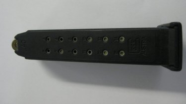 Police are searching for a glock magazine containing 14 rounds of ammunition