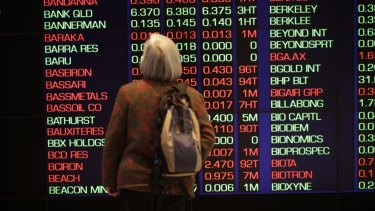 Local shares fell on Wednesday after a choppy session on Wall Street dominated by political news.