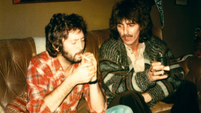George Harrison And Eric Clapton In England 1976