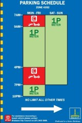 Brisbane City Council will introduce new parking signs as part of the 2015-16 budget.