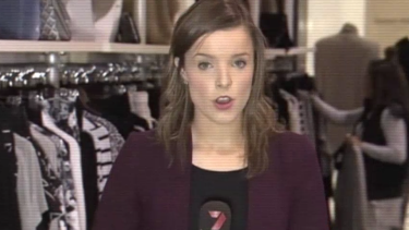Amy Taeuber as a cadet at the Seven Network.