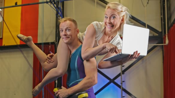 Circus Oz unicyclist and trapeze artists Kyle Raftery and April Dawson are taking care of their personal finances.