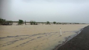Heavy rain caused flooding at Burketown in Queensland's far north west at the weekend.