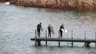 The Brouwer family are keen surfers.