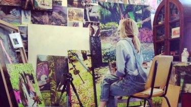 Artist Sophia Hewson in her studio.