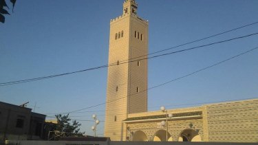 The former Grand Mosque in Ouslatia where five young men from the same neighbourhood were recruited to Islamic State. It was renamed the Guidance Mosque in 2013. The pic was supplied by a local blogger from Ouslatia.