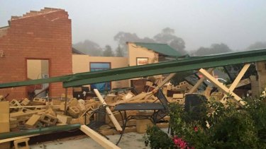 The Queanbeyan SES Facebook page shows the extent of the damage.