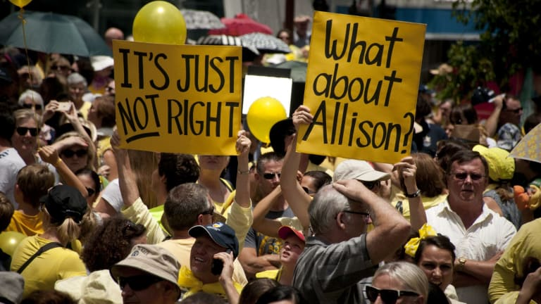 Thousands attended a rally for Allison Baden-Clay.