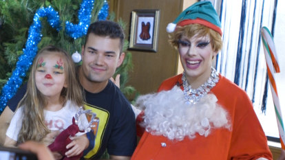 There's a new Santa in town and she's in drag