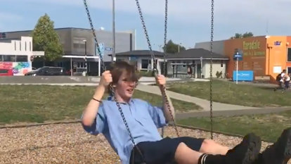 Teen takes swing at world record with playground marathon