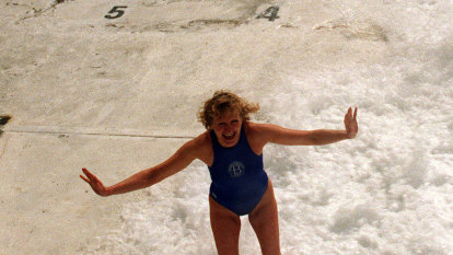 From the Archives, 1995: First woman swimmer races with Bondi Icebergs