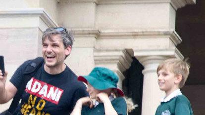 Greens MP found in contempt over anti-Adani shirt