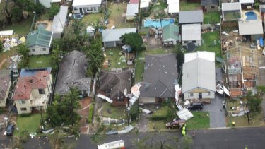 Photos of Kurnell damage from the Westpac Life Save Rescue Helicopter.