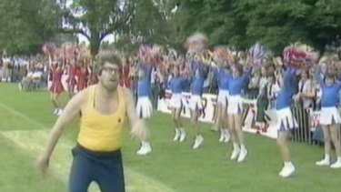 Rolf Harris in the TV show Star Games, shot in Cambridge in 1978.
