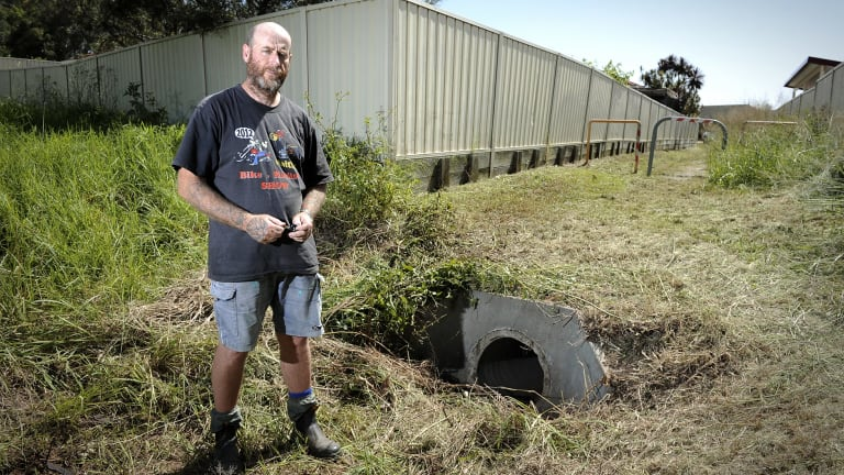 Dave Pettit was mowing the laneway next to his house in Rutherford when he found the body of Dean Shield lying next to the drain.